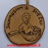 Rankų darbo medalis Jauniausiam svečiui, vestuviu atributika, rasotiziedai