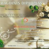smaragdinis diplomas, vestuviu metines