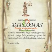 teisingumo diplomas, vestuviu atributika