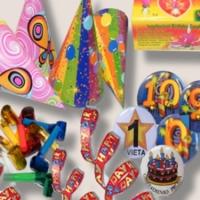 Įvairi gimtadienio atributika