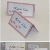 Krikštynų Stalo kortelės