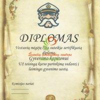 diplomas kapitonui, vestuviu atributika