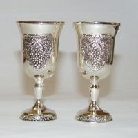 Sidabruotos taurelės, stikliukas, vestuves