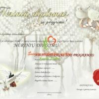 neriniu diplomas, vestuviu metines