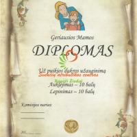 diplomas mamai, vestuviu atributika