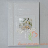 Svečių palinkėjimų knyga, vestuvių proga, atributika