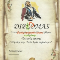 vestuviu tenoras, diplomai