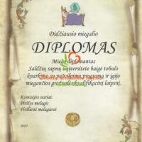 diplomas miegaliui, vestuviu atributika