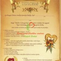 Diplomai vestuvių metinių proga