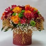 gėlių dėžutė, geles dezuteje, geles i namus, geliu pristatymas