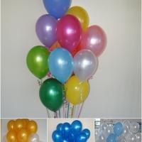 Helio balionų puokštės