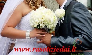 Jaunosios puokštės, jaunikio įsegimai, vestuvių dekoravimas, salės puošimas, vestuviuatributika.lt
