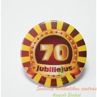 zenkliukas 70 metu, apdovanojimas, gimtadienio atributika, jubiliejaus atributika