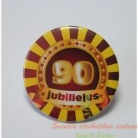 zenkliukas 90 metu, apdovanojimas, gimtadienio atributika, jubiliejaus atributika