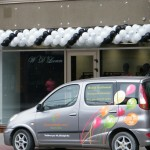balionų girlianda Klaipėdoje