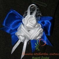 Atlasinė gėlytė į atlapą, vestuvių atributika