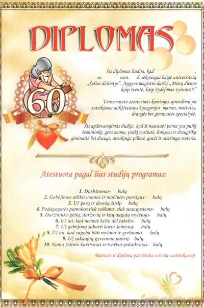 Dovana jubiliejaus proga 60