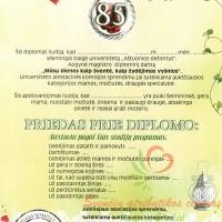 diplomas jubiliejaus proga