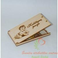 medinė dėžutė - vokelis pinigams