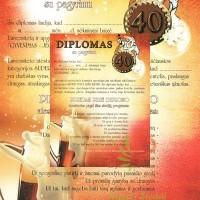 Diplomai Jubiliejaus, gimtadienio proga