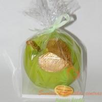 dovana tėvams, žvakė obuolys