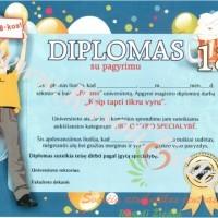 18-os metų diplomas