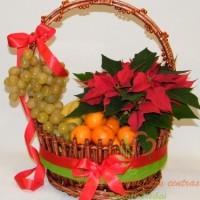 kalėdinis vasių krepšelis