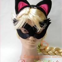 karnavalinė kaukė, domino, naujametinė kaukė, katės kaukė