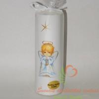 Rankų darbo žvakė su angeliuku