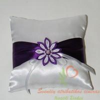 pagalvele-ziedamas-0512, vestuvinė pagalvėlė, žiedų pagalvėlė