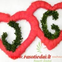 širdelių nuoma su inicialais