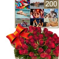 rožės su dovanų kuponu
