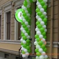 balionų arka parduotuvės atidarymui
