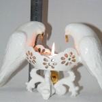 porcelianinis šeimos židinys du balandžiai