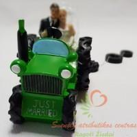 torto figūrėlė jaunieji traktoriuje