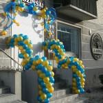 balionų papuošimas girlianda
