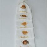 lininiai maišeliai krikštynų kraiteliui