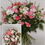 skintų gėlių puokštė į namus