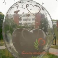 Balta širdis balione