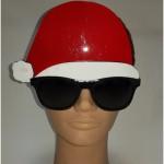Kalėdų senelio kepurė su akiniais