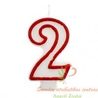 torto žvakutė skaičius 2