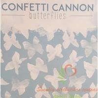 konfeti balti drugeliai