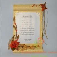 sveikinimas, padeka tevams, priesaika, pergamentas