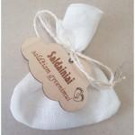 krikštynų maišelis, muilas švariam gyvenimui, saldainiai - sočiam gyvenimui