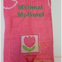 minkšta, švelni, praktiška dovana siuvinėtas rakšluostis močiutei