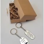 raktų pakabukai, dovana krikšto tėveliams