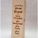 vyno dėžė su graviruotu užrašu, super bosas
