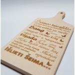 medinė pjaustymo lentelė šeimos taisyklės