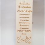 dovana liudininkas, graviruota vyno dėžutė