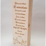 personalizuota vyno dėžė liudininkams